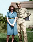 Bob in Uniform with Ruth